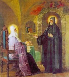 St Serhius refusing the episcopal rank